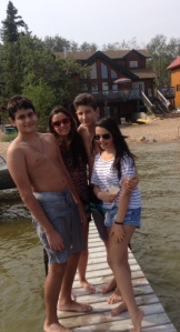 Brazil spending time at beautiful Christopher Lake SK at Norma's cabin